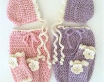 Crochet Baby Cocoon Pattern -Crochet Swaddle Sack - EASY Pattern -Crochet Hat and Leg Warmer Pattern - Crochet Patterns by Deborah O'Leary