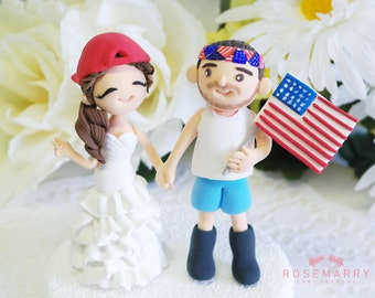 Custom Cake Topper- We Love America~