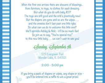 "Baby Boy ""Sprinkle"" Invitation Digital File (Made to Order)"