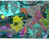 "Star Wars ""Dagoba"" Giclee Art Print"