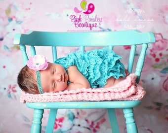 Newborn Coming Home Outfit.Baby Girl Outfit.Baby Girl Coming Home Outfit.2 or 3 PC. Turquoise and Pink Outfit. Cake Smash Outfit. Baby Girl