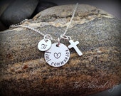 First Communion Jewelry - FIrst Communion Gifts for Girls -  Personalized Religious Gifts  - Boutique Children's Jewelry - The Charmed Wife