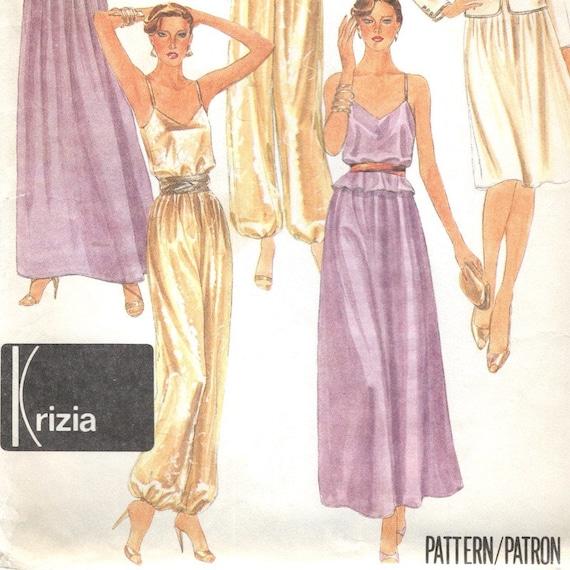 1980s Krizia pattern - harem pants detail - McCall's 7307