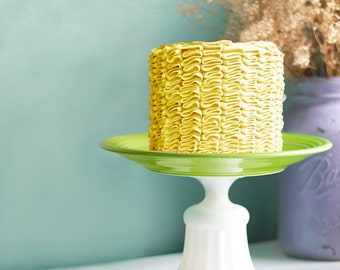 Chartreuse Cake Stand for Spring Weddings / Green Cake Stands