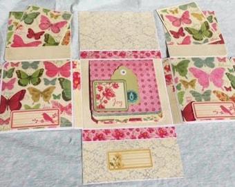 Handmade, Boxed, Envelope Mini Scrap book Album  DCWV Magnolia Way