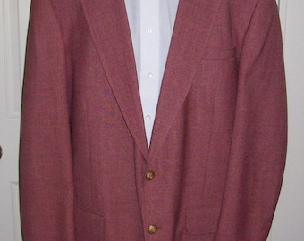 Vintage Men's Mauve Sport Coat Blazer by Stafford 46 Extra LONG Only 12 USD