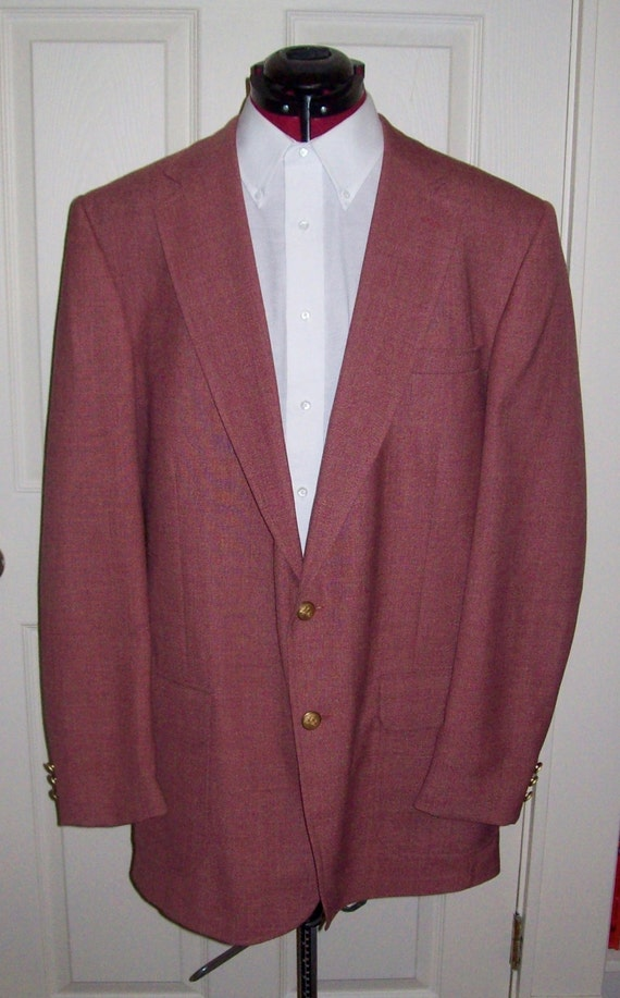 Vintage Men&39s Mauve Sport Coat Blazer by Stafford by SusOriginals