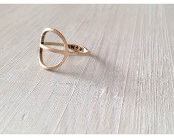 TYYNI Ring - cast bronze comfortable round everyday ring