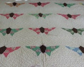 Vintage handmade butterfly quilt