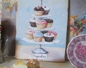 Cupcakes Sign/Print for Dollhouse Miniature