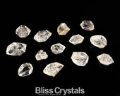 Parcel of 13 HERKIMER DIAMONDS 50 Carats TW Double Terminated Diamond Quartz Herkimer Diamond Mini Stones Healing Crystal #SM2