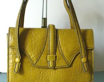 Vintage Ronay Mustard Yellow Handbag