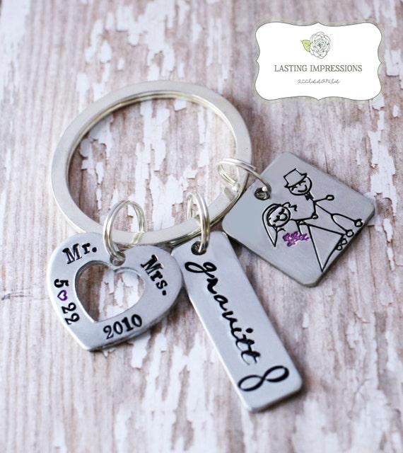 Keychain For Wedding Gift : wedding giftwedding keychainengagement giftbride keychain ...