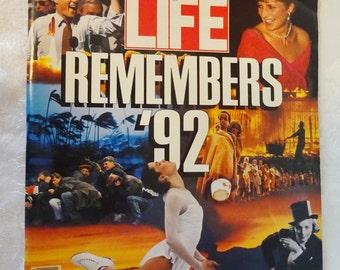 Life Magazine January 1993 Life Remembers 1992 Collector's Edition