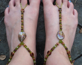 Frolic - Beaded Barefoot Stretch Sandals