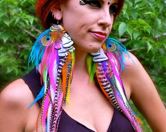 PIXIE DREAM Super Long Feather Earrings