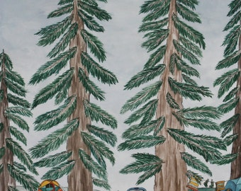 Under the Pines Art Print 8x10