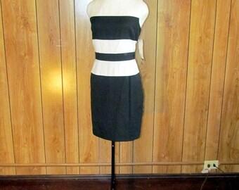 STRIPED Avant Garde COLOR BLOCK Vintage Dress- never worn