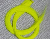 Neon Yellow Clip in up to 21 Inches Hair Extension Hand Wefted Gothic Steampunk Cosplay