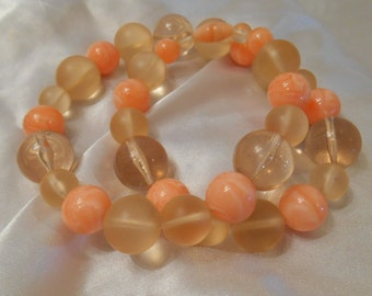 Avon Marble Hues Bead Necklace in Coral