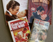 Gone With the Wind BOOK COLLECTION 4 Collectible Vintage Books Hardcover Illustrated Photos Art of Movie History Legend Cookbook 80s 90s