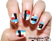 Color Blocks Summer Nail Polish Strips | Nail Wraps | Nail Decals