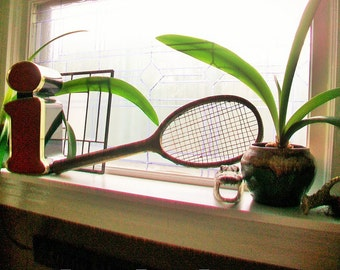Antique Tennis Racket Man Cave Decor