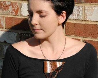 Statement Necklace Punk Edgy Rocker Pendant Stone Necklace Cool Necklace Cool Goth Pendant Unique Necklace Bib Necklace Agate