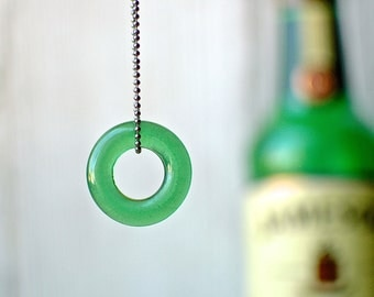 Jameson Single Shot Gunmetal Necklace | Natural Glass Finish