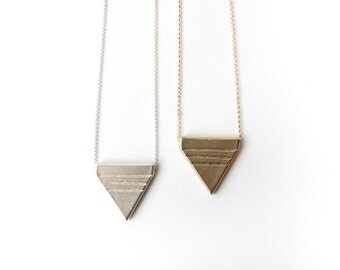 Geometric Triangle Necklace   Rituals Necklace