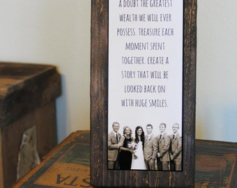 Custom Quote Sign with Custom Photo - Rustic Decor - CUSTOMIZABLE QUOTE with PHOTO