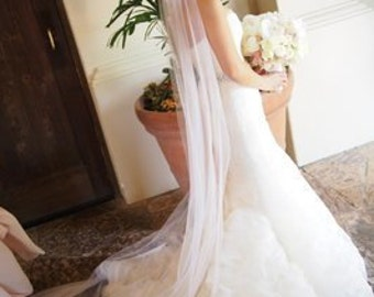 "Long Wedding veils, READY TO SHIP veils,  cathedral veils 80"",90"" 108"" 120"""