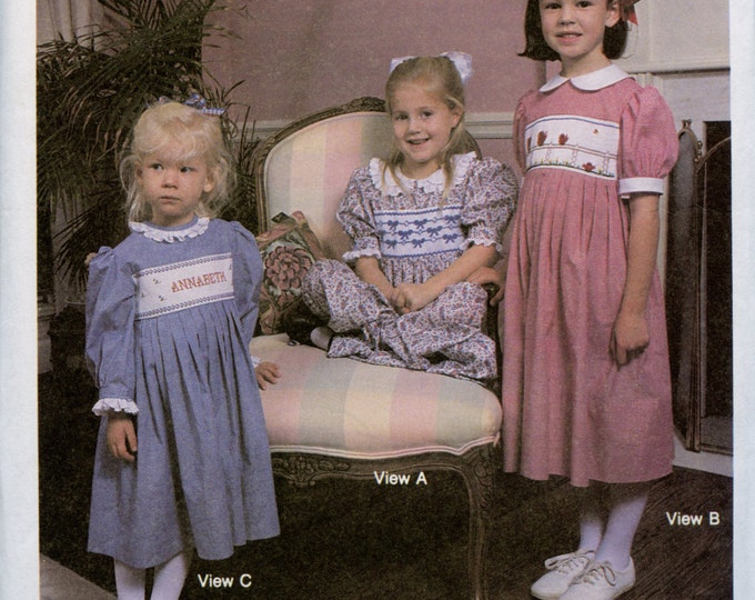 Childrens Corner Pattern / Anne Pattern / Smocked Dress Pattern / Smocked Square Yoke Pattern /  Children's Corner Pattern # 5