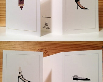 Shoe card set (4 designs)