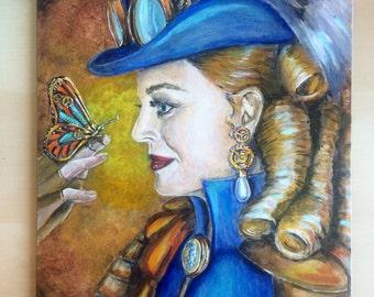 Steampunk Queen original painting