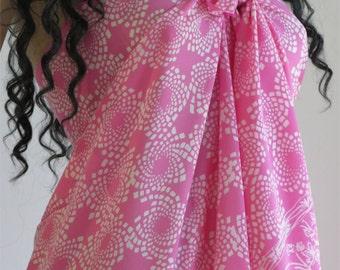 Pink Sarong, Pareo, Wrap, Cover up