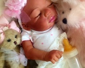Completed Bi Racial Kyra Completed Reborn Baby Doll from the Baylee 21 inch kit