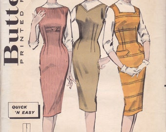 1950s Easy Jumper Pattern Butterick 8715 Size 13