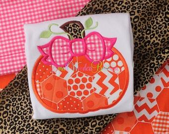 Thanksgiving Embroidered Shirt - Girl Pumpkin Shirt  - Leopard Pumpkin Shirt - Girls Pumpkin - Girls Thanksgiving Shirt - Pumpkin Shirt