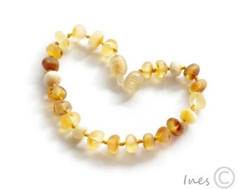 Raw Unpolished Baltic Amber Baby Teething Bracelet Or Anklet