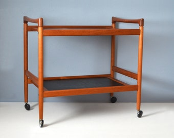 Danish Modern Dyrlund Teak Serving Cart