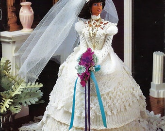 Sacred sentiments Bride  Fashion Doll  Crochet Pattern Book Annies Attic 870217