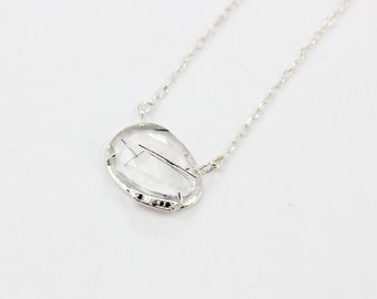 Black Rutilated Quartz & Spinel Necklace