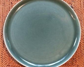 Russel Wright American Modern Dinner Plates, Seafoam ca. 1940s Steubenville