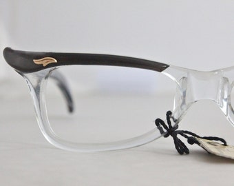 Vintage 50's French Slate Cat Eyeglasses Sunglass Frames