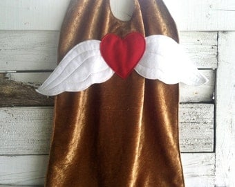 Super Girl ANGEL WING Cape - Gold and White - Angel Cape - Super Cape - Halloween Costume - Halloween Costume - Kid Costume