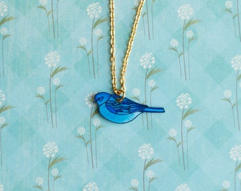 Mountain Bluebird Necklace | Songbird | Song Bird Jewelry | Gifts Under 25
