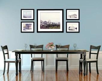 San Francisco Photography - California - Golden Gate Bridge - Cable Cars - Set of Five (5) San Francisco Photos - Kitchen Art - Home Decor