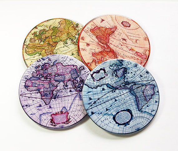 Beautiful map coasters