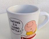 Vintage Ziggy mug Dieting is a losing Battle by Tom Wilson